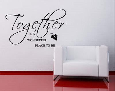 Together Is A Wonderful Place To Be Toves Interi R